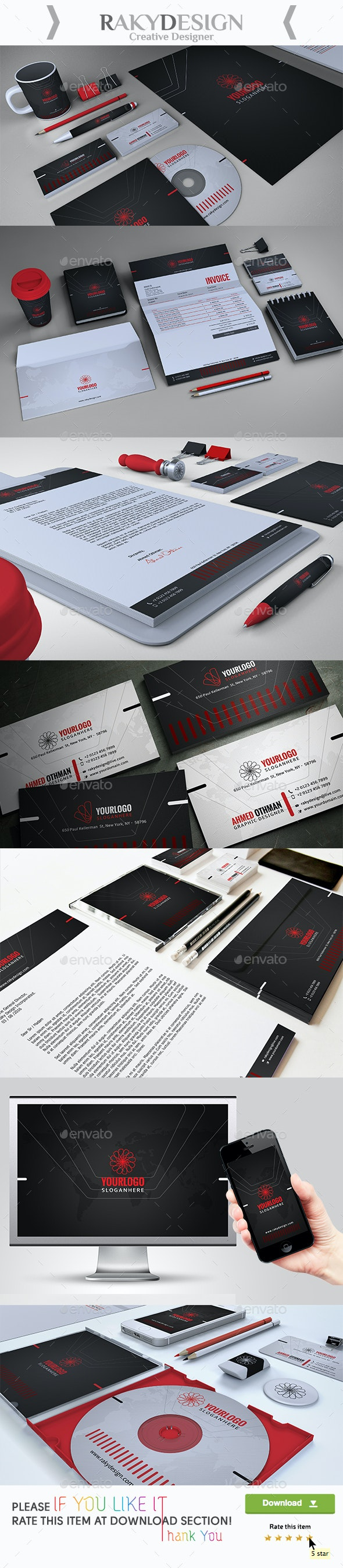 Minimal Corporate Identity - Stationery Print Templates