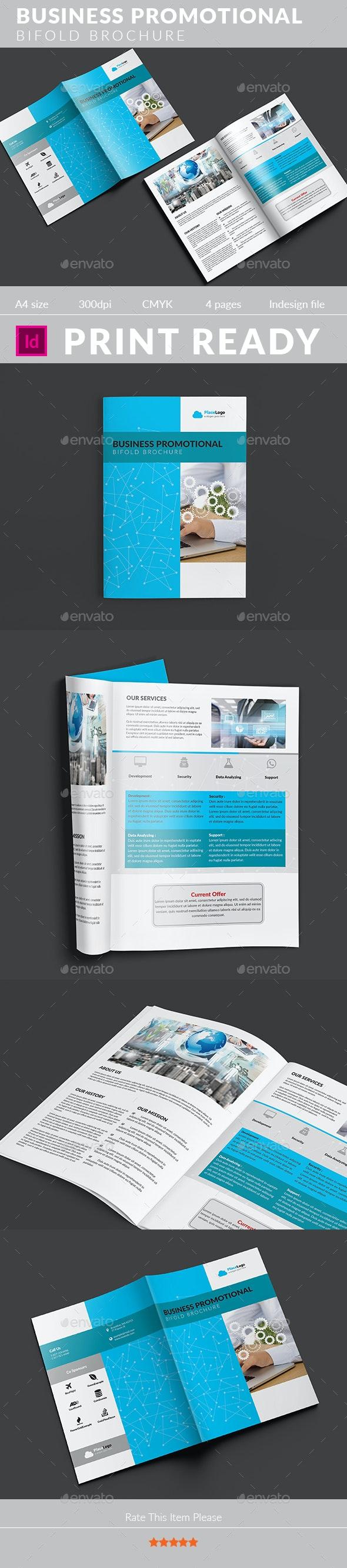 Business Promotional Bifold Brochure - Corporate Brochures