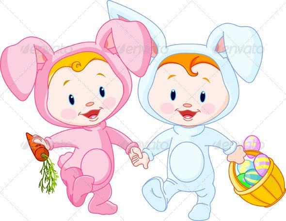 Easter Babies-bunnies - Religion Conceptual