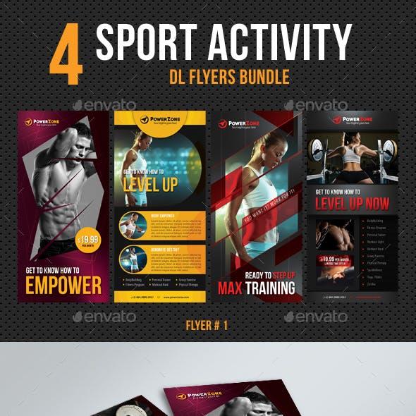 4 in 1 DL Sport Activity Flyer Bundle