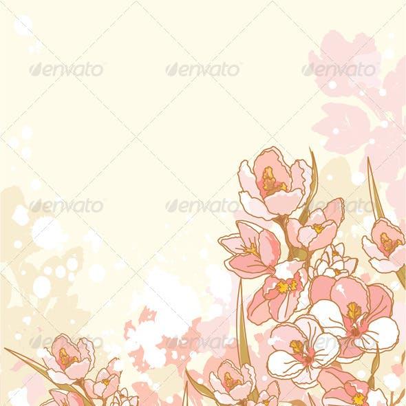 Spring flowers design