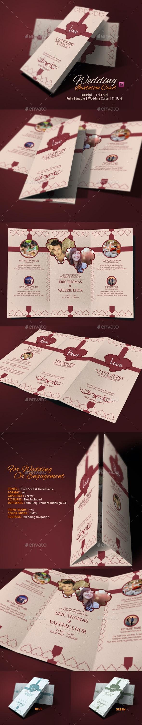 Tri Fold Wedding Card - Weddings Cards & Invites
