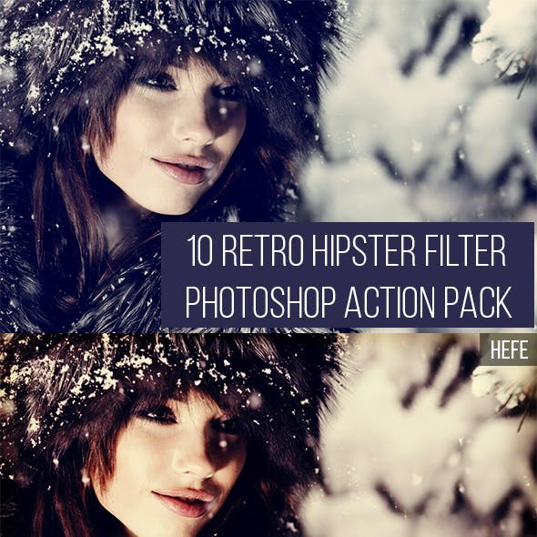 Instagram Photoshop Action Graphics, Designs & Template