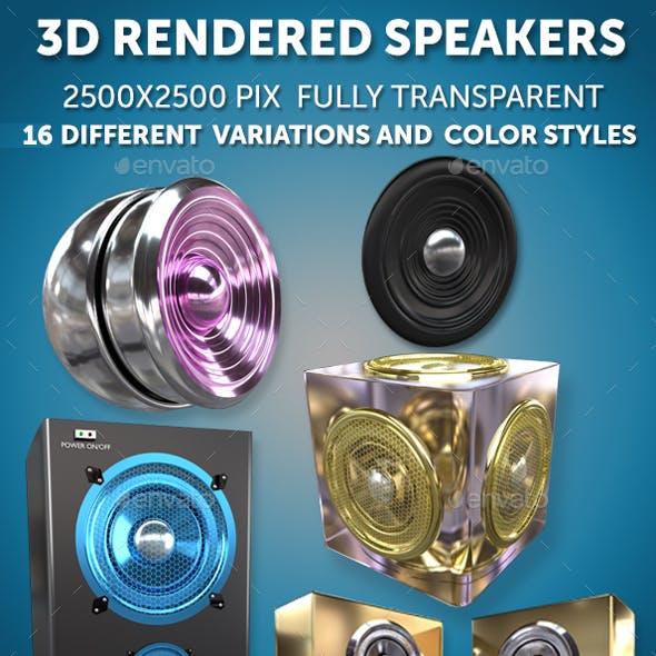 3D Rendered Speaker Pack