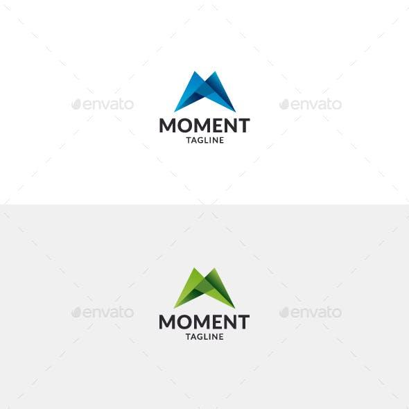 Moment Logo • Letter M