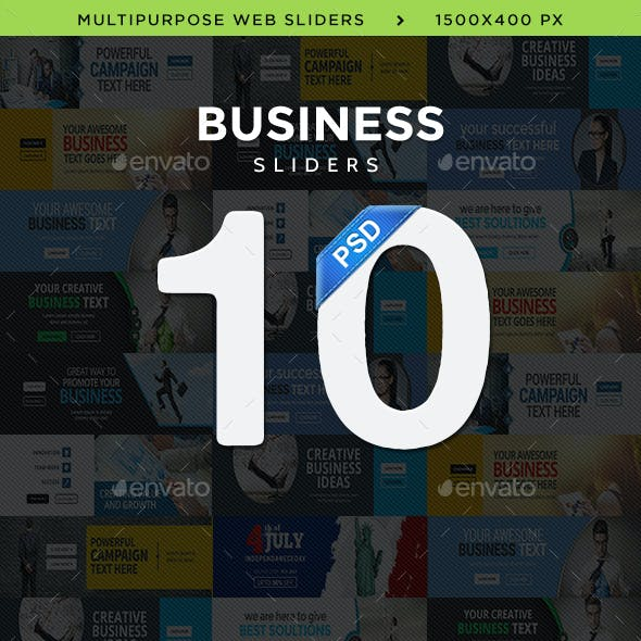 Business Sliders - 10 Designs