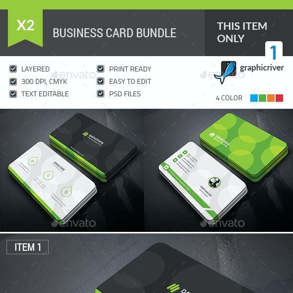 Bubble Business Card Bundle