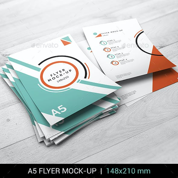 A5 Flyer Mock-Up