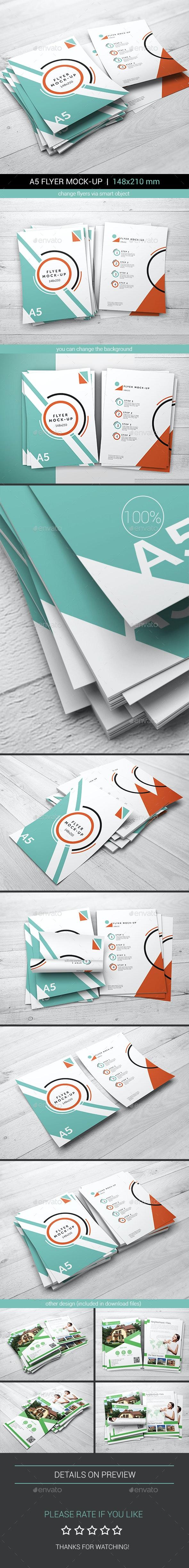 A5 Flyer Mock-Up - Flyers Print