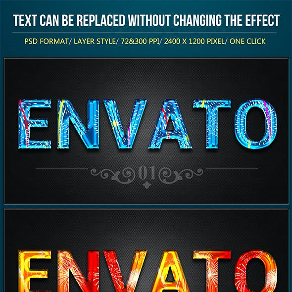 Firework Text Effects