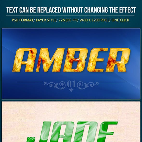 Natural Sheen Text Effects