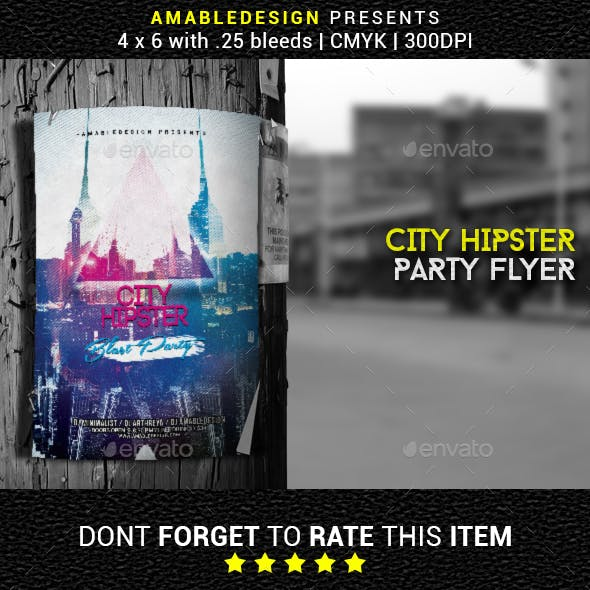 City Hipster Flyer/Poster