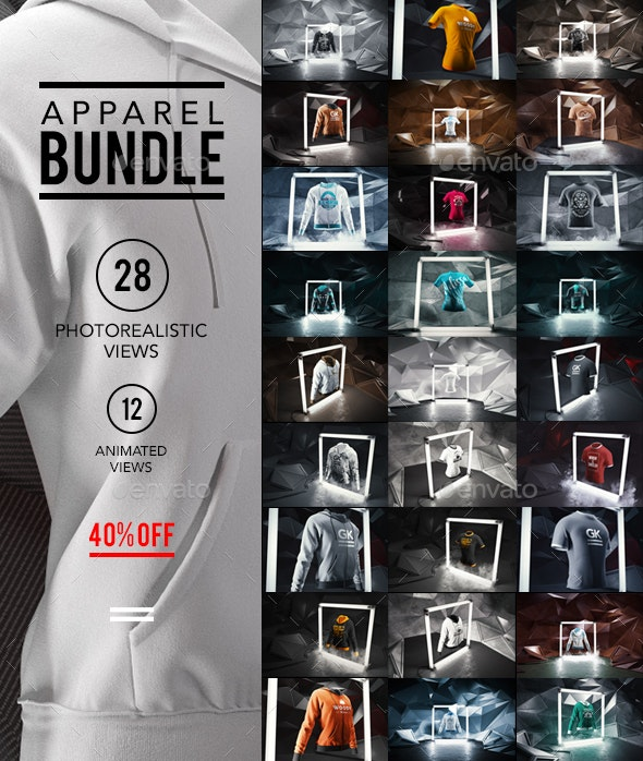 Apparel / Clothing Mock-up Bundle