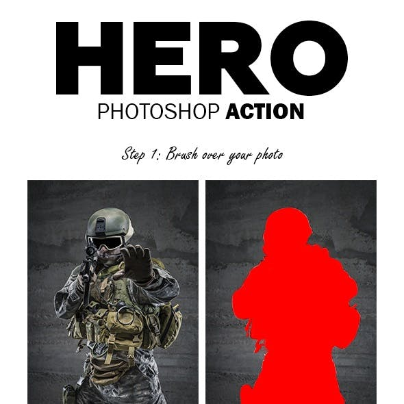 Hero Photoshop Action