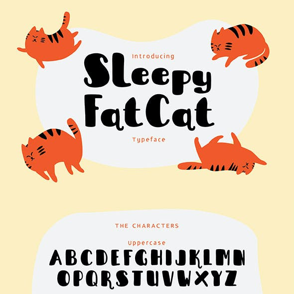 Sleepy Fat Cat Typeface