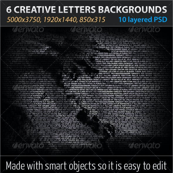 6 Creative Letters Backgrounds