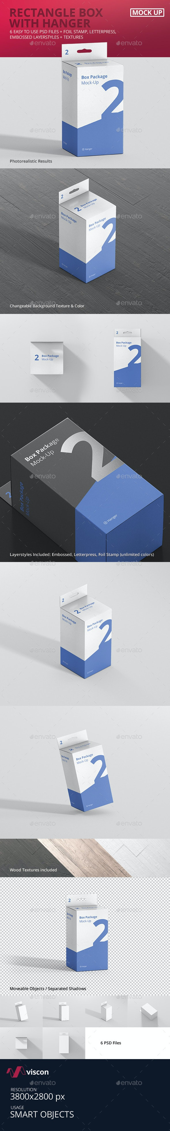 Package Box Mockup - Rectangle with Hanger - Miscellaneous Packaging