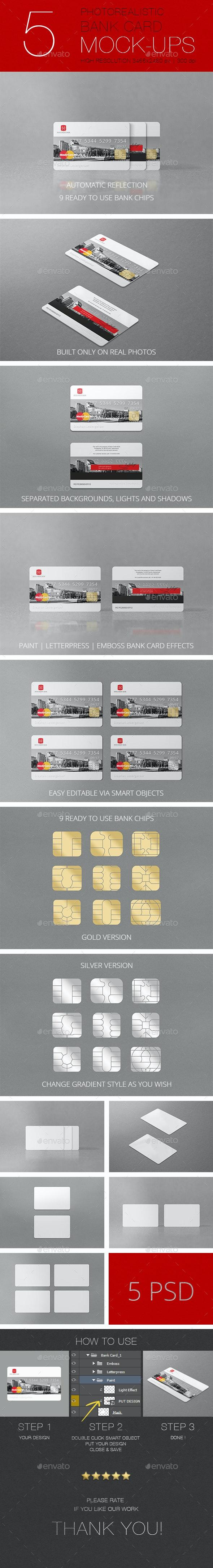 Photorealistic Bank Card Mockup - Miscellaneous Print