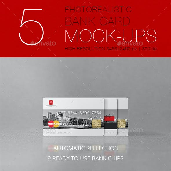 Photorealistic Bank Card Mockup