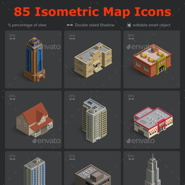 Isometric Map Icons Vol.02 by designhatti