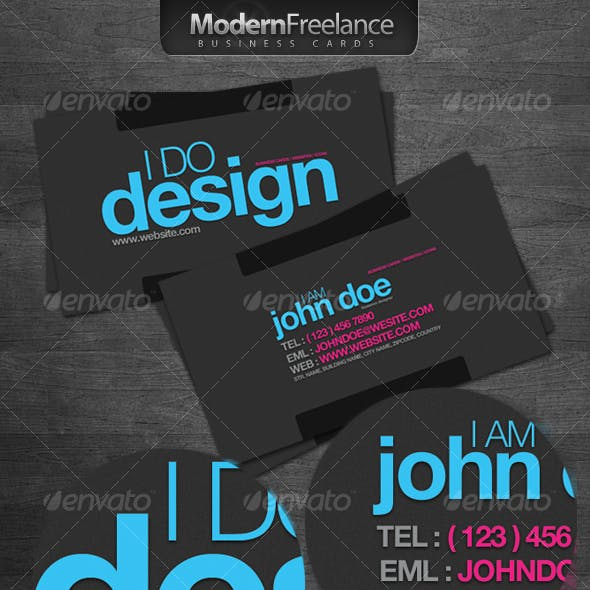 Modern Freelance Business Cards