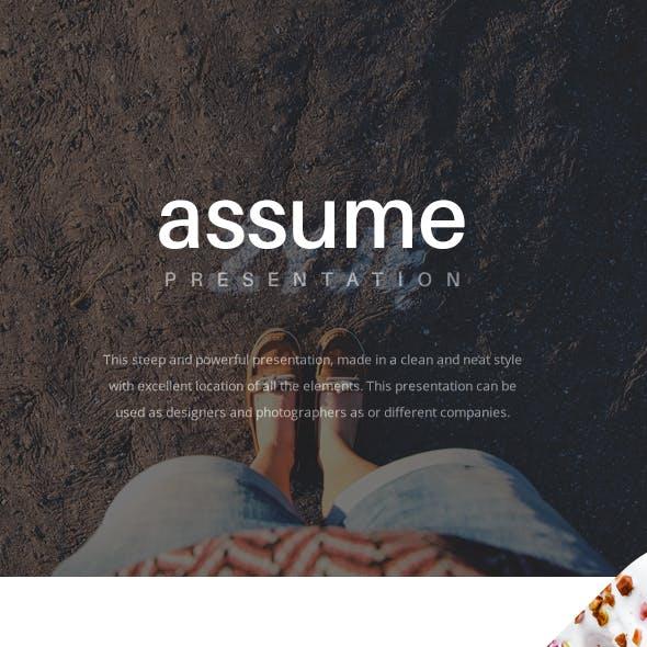 Assume Keynote Presentation