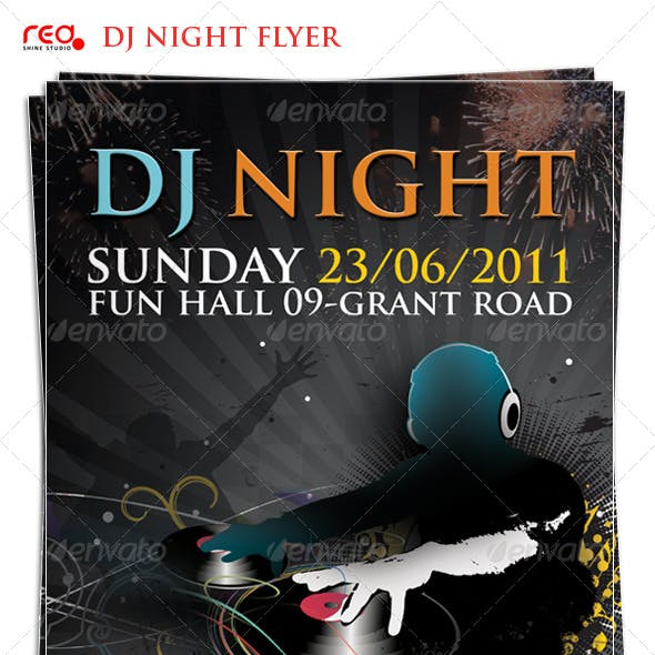 Beautiful Dj Night Poster/Flyer Template