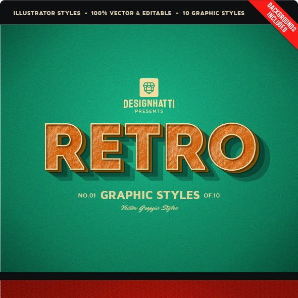 Retro Vintage Text Styles by designhatti