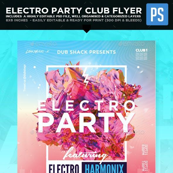 Electro Party Club Flyer