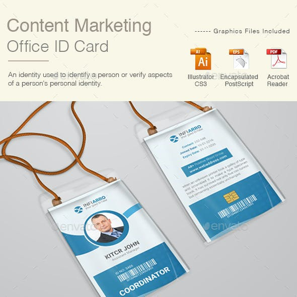 Content Marketing Office ID Card