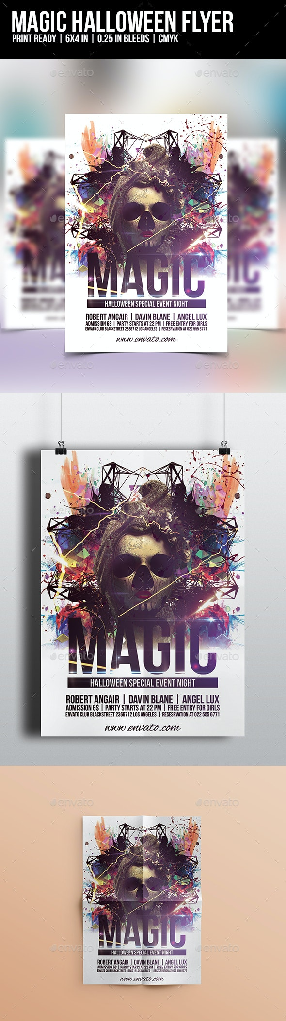 Magic Halloween Flyer Template - Clubs & Parties Events