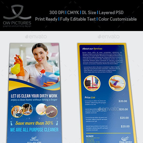Cleaning Services DL Flyer Template