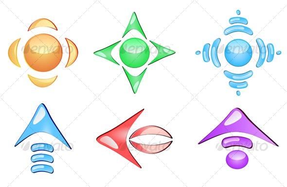Set of glossy arrows - Decorative Vectors