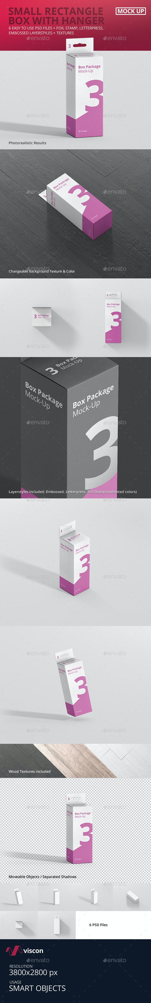 Package Box Mock-Up - Small Rectangle with Hanger - Miscellaneous Packaging