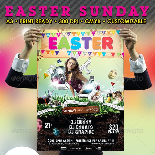 Easter Sunday Poster/Flyer Template