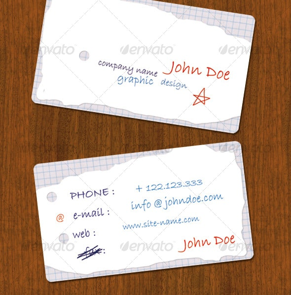 Handwrite business Card - Creative Business Cards