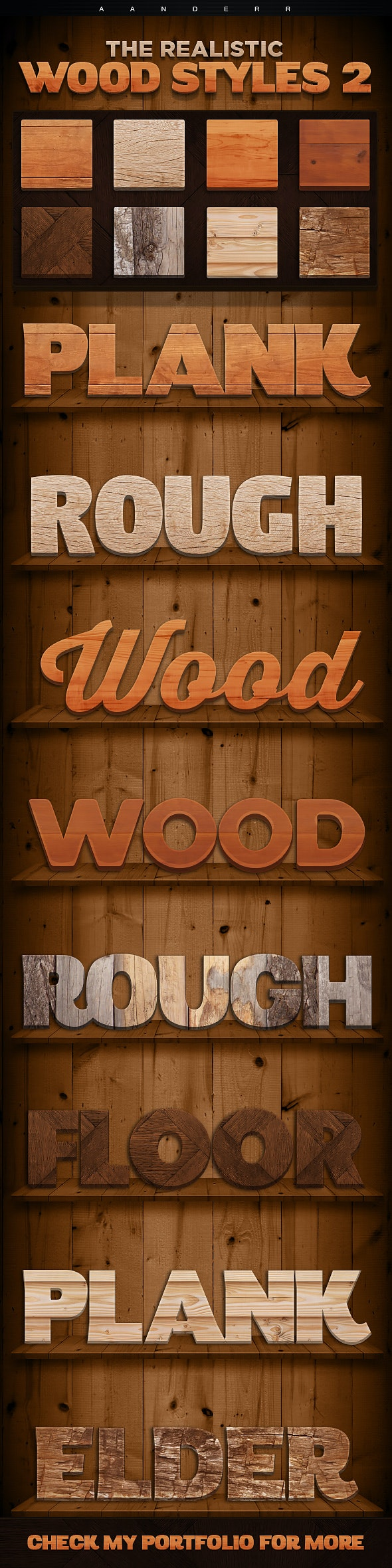 The Realistic Wood Styles 2 - Text Effects Styles