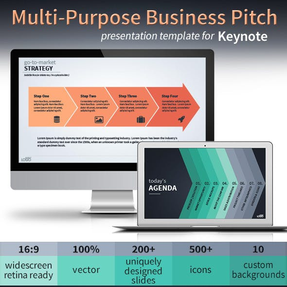 Multi-Purpose Vector Business Pitch Deck for Keynote
