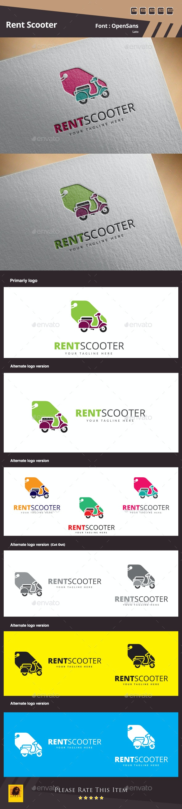 Rent Scooter Logo - Symbols Logo Templates