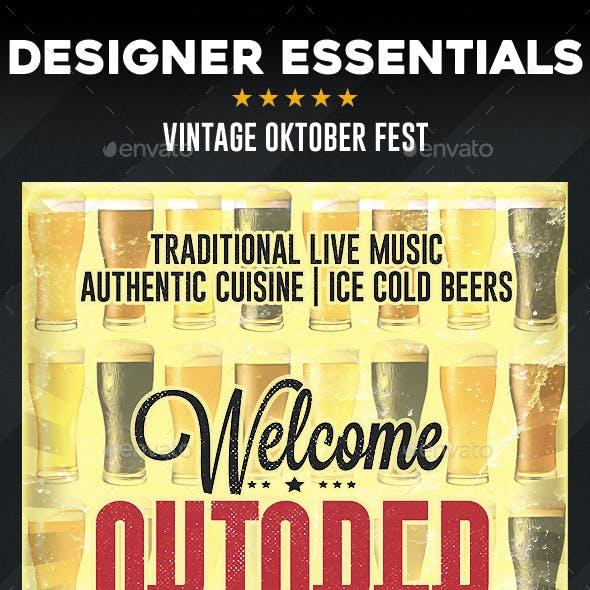 Vintage Oktoberfest Flyer