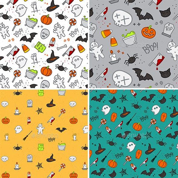 Set Halloween Patterns