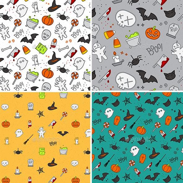 Set Halloween Patterns - Halloween Seasons/Holidays