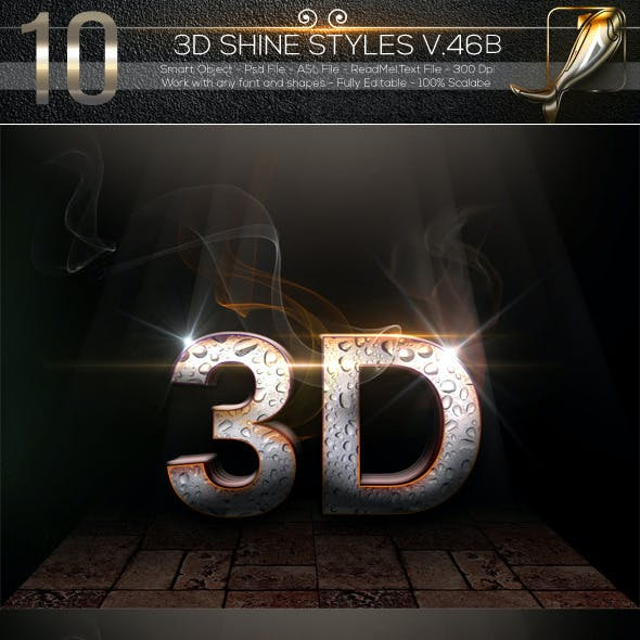 10 3D Text Styles V.46B