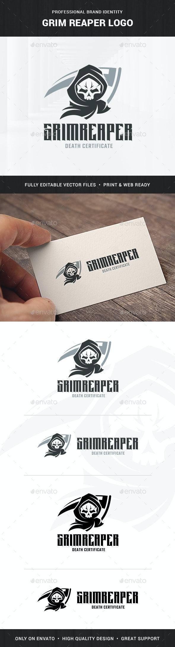 Grim Reaper Logo Template - Humans Logo Templates