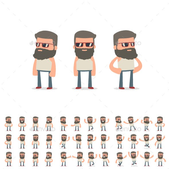 150+ Poses of Character Hipster