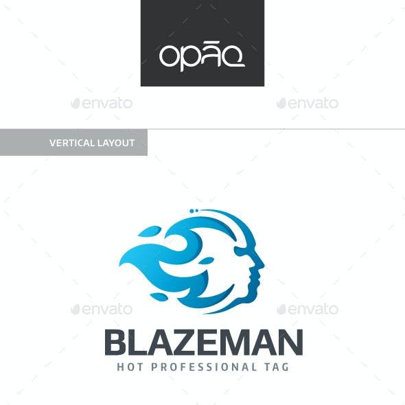 Blaze Man Logo