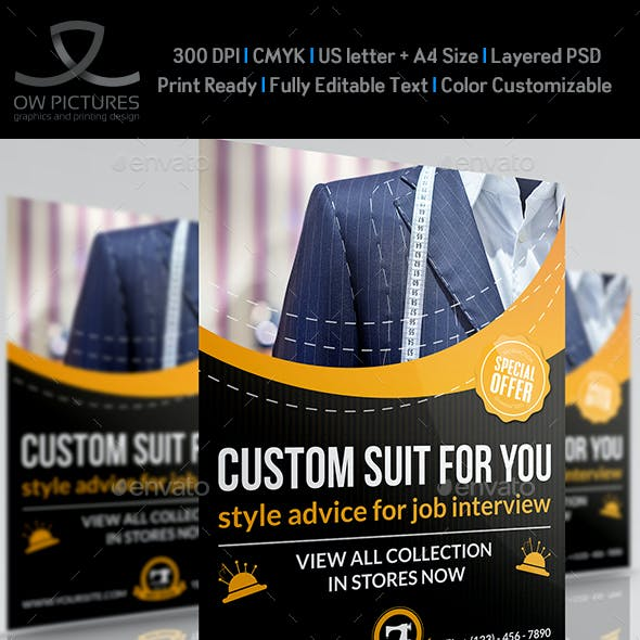 Tailor Fashion Flyer Template