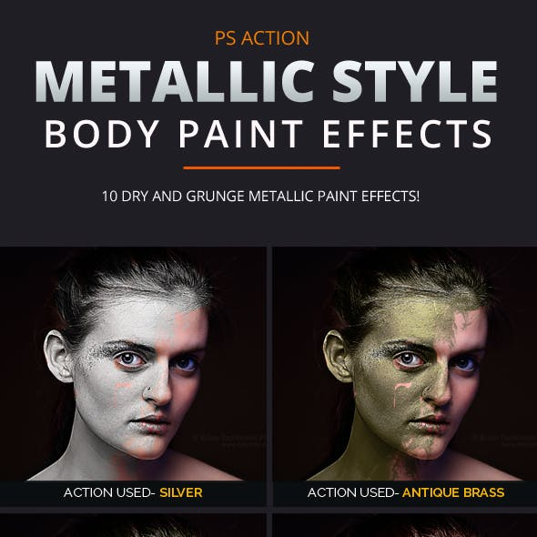 Metallic Style Body Paint Effects Vol 1
