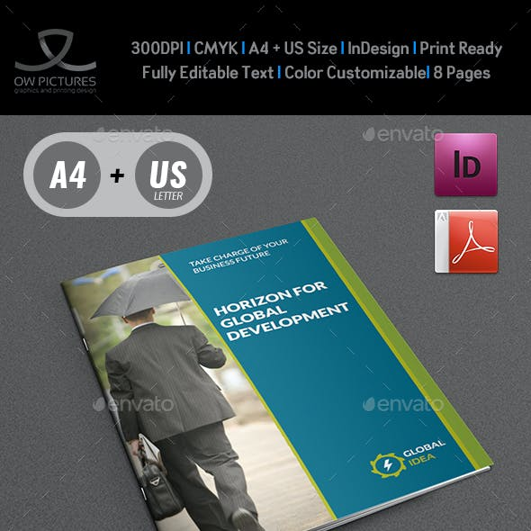 Corporate Brochure Template - 8 Pages