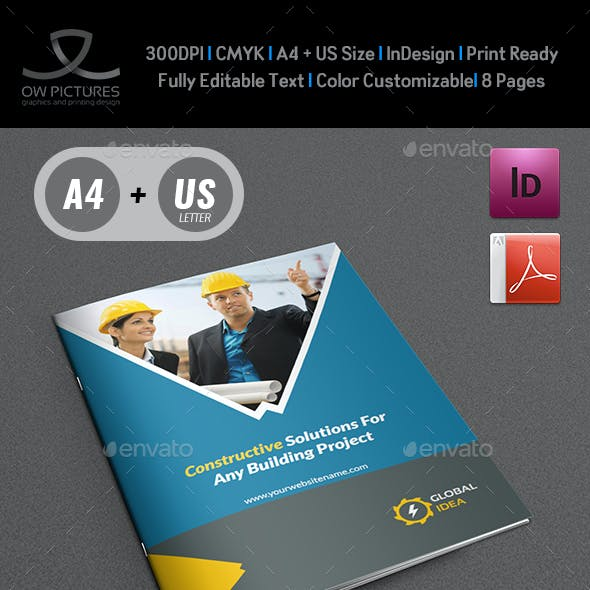 Construction Business Brochure Template - 8 Pages